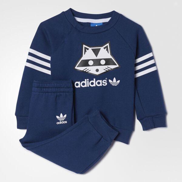 ef4a6894e9ad adidas Pants con sudadera Originals Bebé - Azul | adidas Mexico